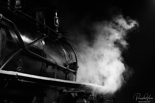 Steam from Locomotive #40 before morning Startup