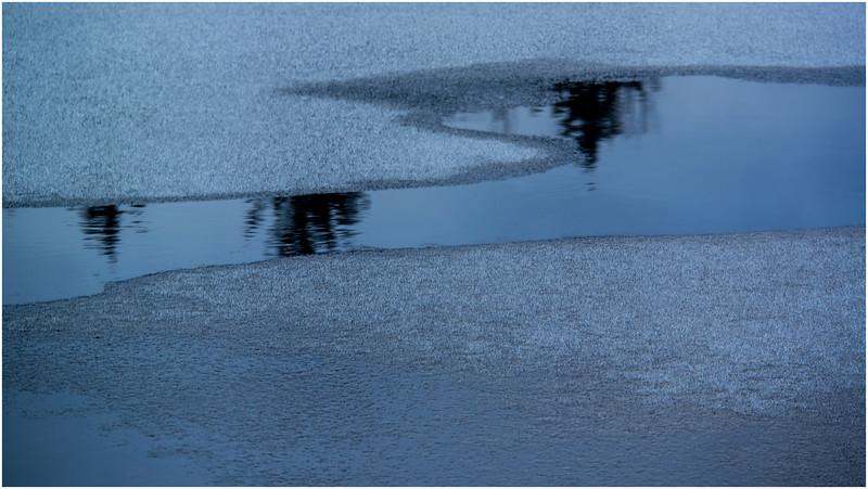 Adirondacks Lake Abenakee Backwater Frozen Surface 6 December 2016