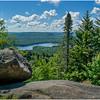 Adirondacks Bald Mountain First Lake Balancing Rock July 2016