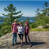 Adirondacks Bald Mountain Todd, Kim, Jennifer and First Lake July 2016