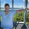 Adirondacks Bald Mountain Kim in Firetower 1 July 2016