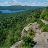Adirondacks Bald Mountain First Lake from Firetower 4 July 2016