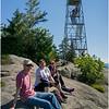 Adirondacks Bald Mountain Todd, Kim, Jennifer and Firetower July 2016