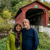 Arlington VT Kim and Tom at Covered Bridge 2 October 2016