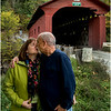 Arlington VT Kim and Tom at Covered Bridge 3 October 2016