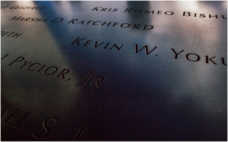 Manhattan NY World Trade Center Names 2 November 2016