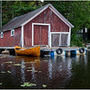 Adirondacks Chateaugay Lake Boathouse with Guideboat 3 August 2017