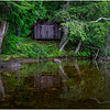 Adirondacks Chateaugay Lake Boathouse in the Woods August 2017