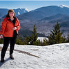 Adirondacks Mts  Marcy, Colden and Algonquin Peak and Kim Bessette from Mt  Jo 1 February 2017