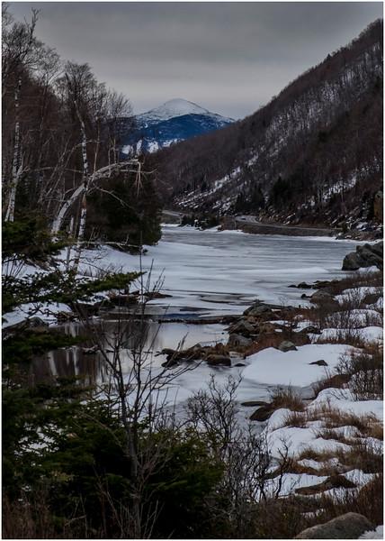 Adirondacks Algonquin Peak from Lower Cascade Lake 1  February 2017