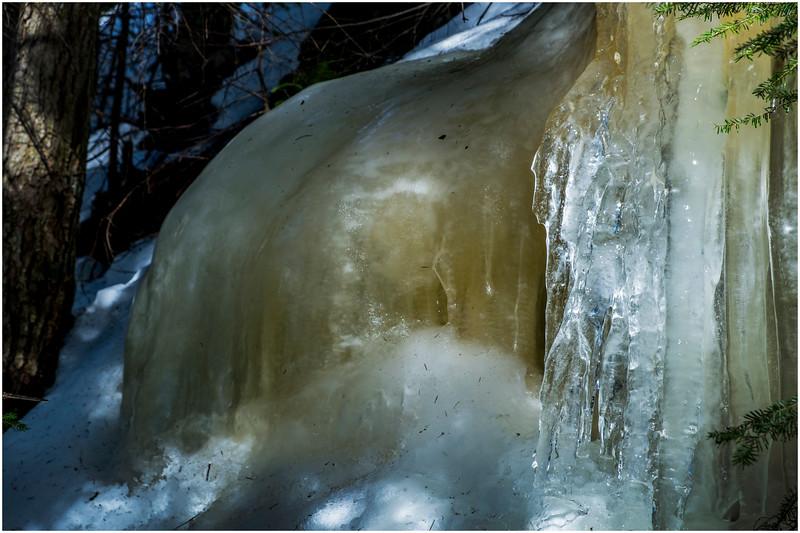 Adirondacks Mt Jo Trail Iceflow 17 February 2017