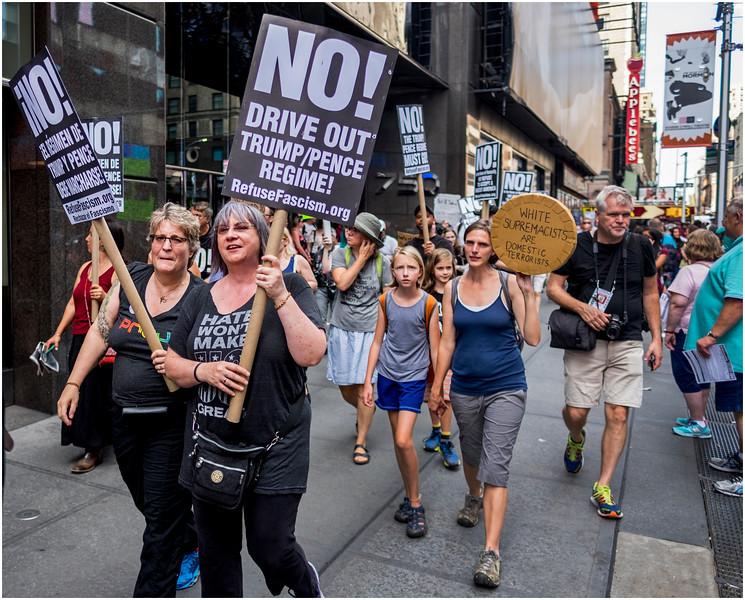 New York City Anti-Trump March 3 August 2017