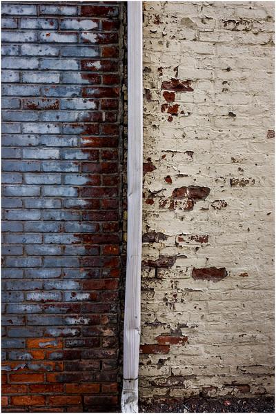 Troy NY Back Alley 9 Blue and Yellow Brick January 2017