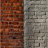 Troy NY Back Alley 3 Orange and White Brick January 2017