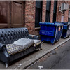 Troy NY Back Alley 30 Couch and Dumpsters January 2017