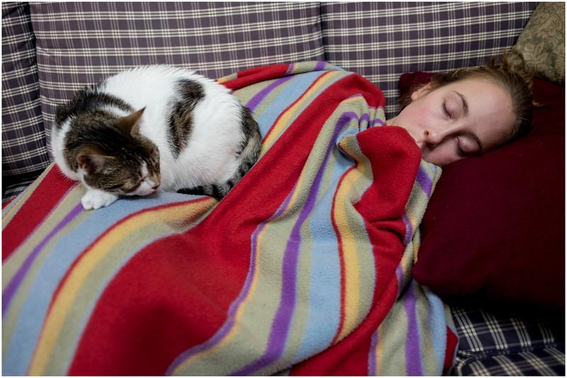 Delmar NY Sick Kid and Cat January 2017