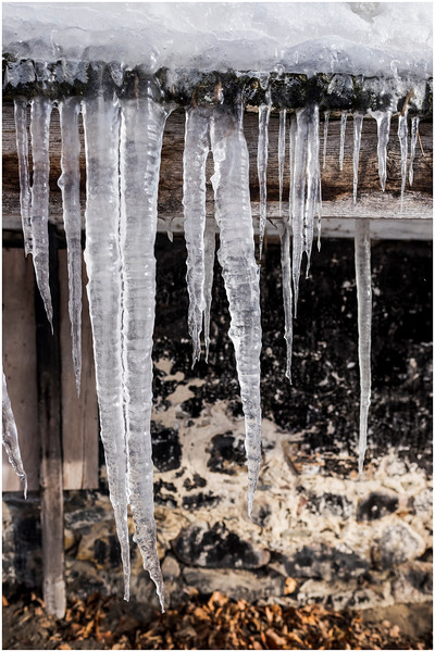 Vercheres Canada Icicles 1 January 2017