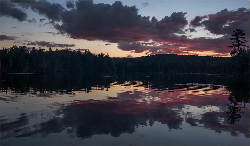 Adirondacks Seventh Lake Sunset 21 September 2018