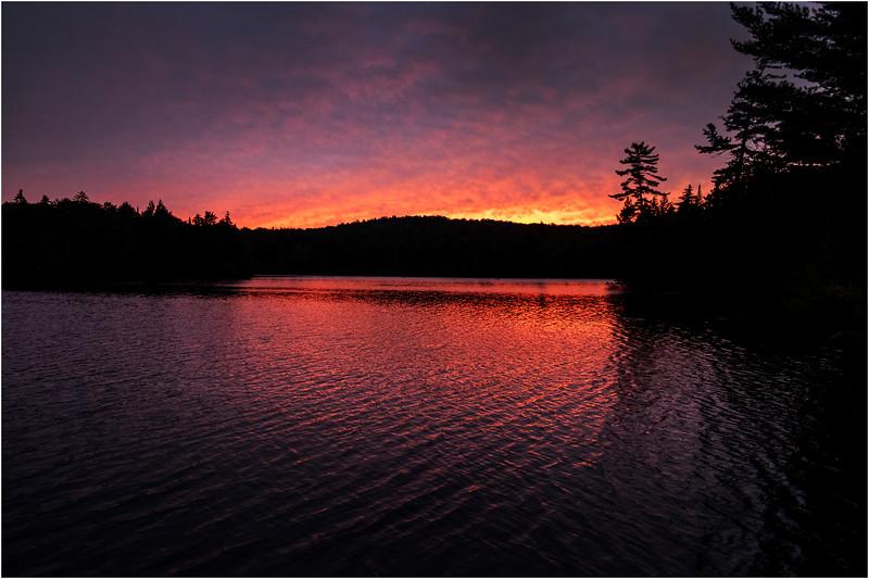 Adirondacks Seventh Lake Sunset 29 September 2018