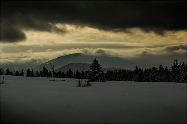 Adirondacks North Elba Algonquin Clouds January 2018
