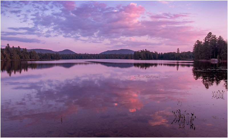 Adirondacks Forked Lake Sunset from Campsite 35 1 July 2020