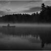 Adirondacks Whey Pond Sunrise BW 6 September 2020