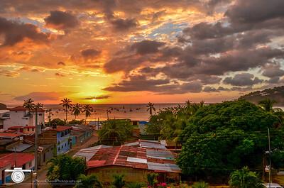 Sunset over San Juan del Sur
