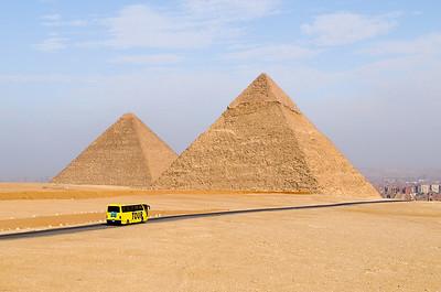 The Great Pyramids at Giza.