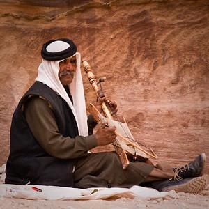 Bedouin musician in Petra, Jordan.