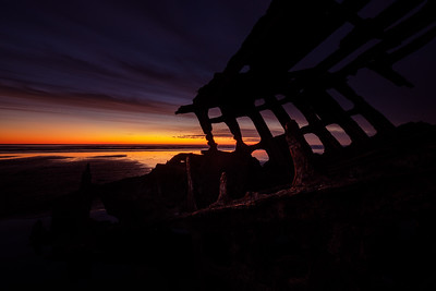 Peter Iredale Shipwreck At Sunset - Astoria