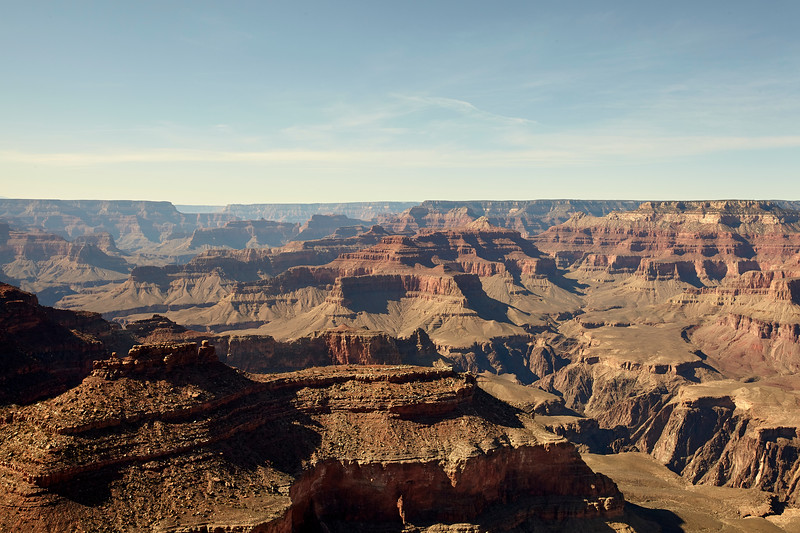Layered Bands Of Red Rock - Grand Canyon