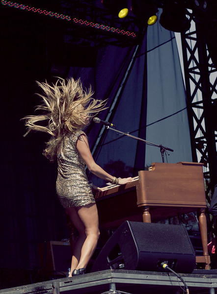 Grace Potter and the Nocturnals performing at Austin City Limits Music Festival on October 9, 2010.