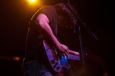 Isaac Routh of The Warplanes performing at the North Door in Austin, Texas.