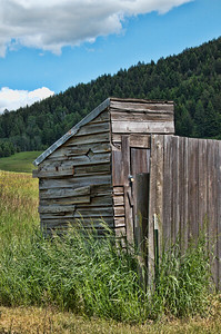 Old outhouse in Molson, WA