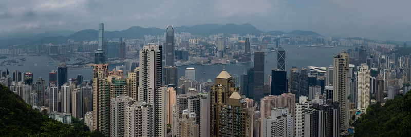 The Skyline Hong Kong From The Peak