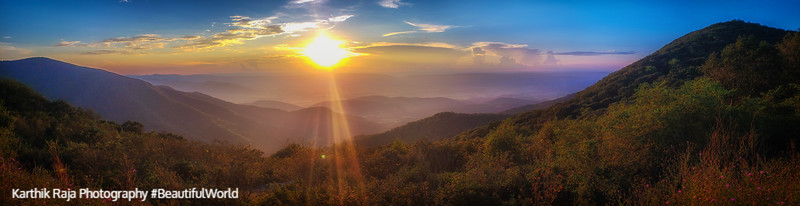 Sunset, Timber Hollow Overlook, Shenandoah National Park, Virginia