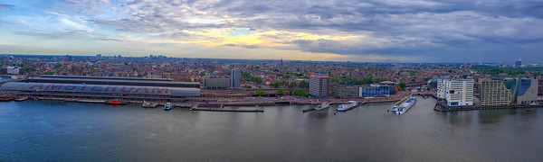 Panorama, IJ Lake, Amsterdam, Amsterdam Centraal