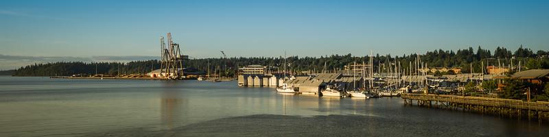 Olympia boat harbor from 4th Ave. Bridge