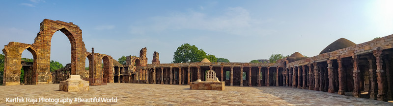 Quwwat-ul-Islam (or Might of Islam), Qutb Minar Complex, Delhi, India 2019