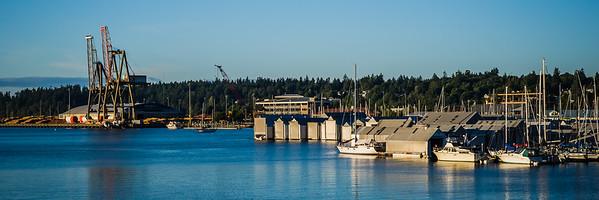 Percival Landing from 4th Ave Bridge - Olympia, Washington
