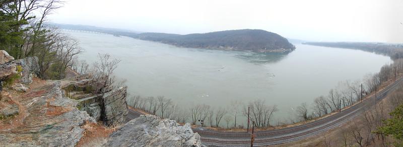 Panorama at Chickies Rock in Pennsylvania