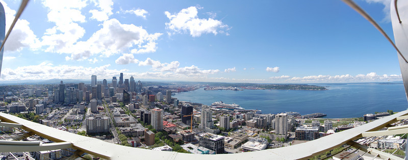 """Panorama of Seattle and the bay<br /> Full version: <a href=""""http://photos.kevinworkman.com/Pictures/2011/i-w4qmsvH/1/O/SeattlePanorama4.jpg"""">http://photos.kevinworkman.com/Pictures/2011/i-w4qmsvH/1/O/SeattlePanorama4.jpg</a>"""