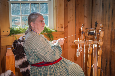 Spinning at Fort Nisqually