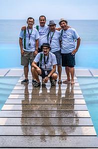 L-R (standing):  Billy Leysa, Tony Rayos, Boyce Jubilan, Efren Diaz; sitting; Tony Luna