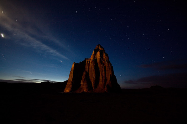 "<i>Temple of the Moon. Cathedral Valley, UT</i>   The evening shoot was at the Temple of the Sun and Moon. By now we were getting the hang of night photography.  <a href=""http://dkoyanagi.smugmug.com/gallery/2955501#159717806"">My photos from Capitol Reef and Cathedral Valley.</a>"