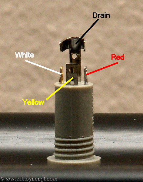 Step 3<br /> <br /> Solder the wires to the connectors on the jack. Here's how you connect the wires to the jack. (Click on photo to enlarge)