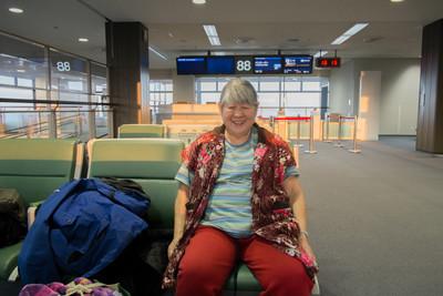 Waiting at Narita