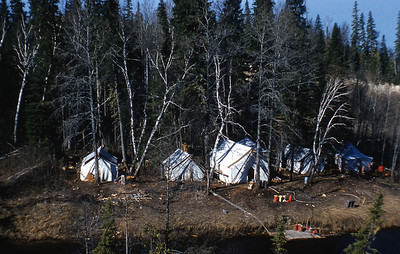 Camp on Mattagami R & Pike R. May 1959