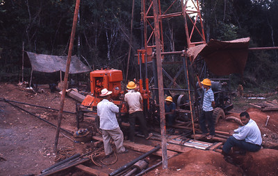 Drilling near Chiang Khong