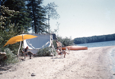 Camp on Wastayanipi, Clive Carruthers, K. Benson, Bob Smithson